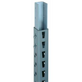 "Bulk Storage Rack Post, 144""H, Gray (2) pcs"