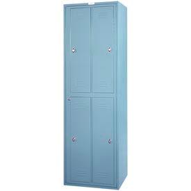 Lyon 4 Hanging Garment Locker w/ Turn Lock DD6404WTL - Gray