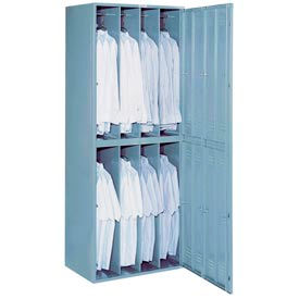 Lyon 8 Hanging Garment Widebody Locker w/ Turn Lock DD6408WTL - Gray