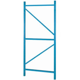 "Bulk Storage Rack Welded Upright, 42""Dx144""H, Gray"