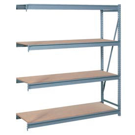 "Bulk Storage Rack Add-On, 4 Tier, Particle Board, 60""W x 24""D x 96""H Gray"
