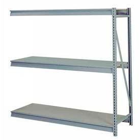 "Bulk Storage Rack Add-On, 3 Tier, Particle Board, 72""W x 24""D x 72""H Gray"