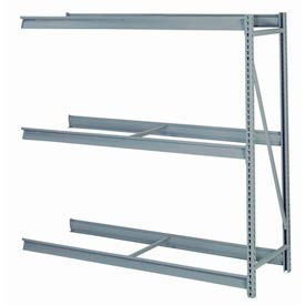 "Bulk Storage Rack Add-On, 3 Tier, Without Decking, 72""W x 36""D x 72""H Gray"