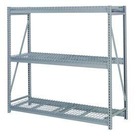 """Bulk Storage Rack Starter, 3 Tier, Wire Decking, 96""""W x 36""""D x 60""""H Gray"""