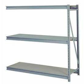 "Bulk Storage Rack Add-On, 3 Tier, Particle Board, 96""W x 24""D x 72""H Gray"