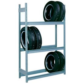 "Lyon Truck Tire Rack Add-On 3-Tier - 96""W x 18""D x 144""H, Gray"