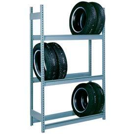 """Lyon Truck Tire Rack Starter 3-Tier - 96""""W x 18""""D x 144""""H, Gray"""