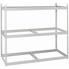 """Record Rack Starter, 4 Level, Particle Board, 80 Box  Cap, 69""""W x 32""""D x 84""""H Gray"""