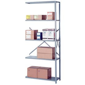 "Lyon Steel Shelving 18 Gauge 36""W x 24""D x 84""H Open Style 5 Shelves Gy Add-On"