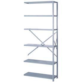 """Lyon Steel Shelving 18 Gauge 36""""W x 12""""D x 84""""H Open Style 6 Shelves Gy Add-On"""