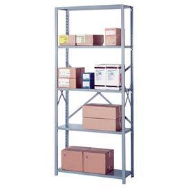 """Lyon Steel Shelving 20 Gauge 42""""W x 24""""D x 84""""H Open Style 5 Shelves Gy Starter"""