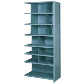 "Lyon Shelving Add-On DD8061H - 16 Compartment 8 Heavy-Duty Shelves, 36""Wx18""Dx84""H Gray"