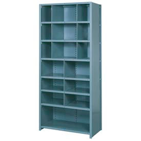 """Lyon Shelving Add-On DD8062 - 16 Compartment 8 Traditional Shelves, 36""""Wx24""""Dx84""""H Gray"""