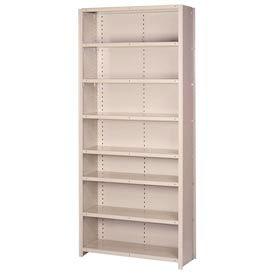 "Lyon Steel Shelving 22 Gauge 36""W x 12""D x 84""H Closed Style 8 Shelves Gy Add-On"