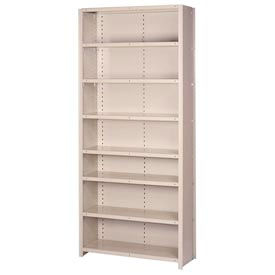 "Lyon Steel Shelving 18 Guage 36""W x 18""D x 84""H Closed Style 8 Shelves Gy Add-On"