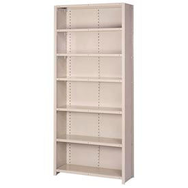 "Lyon Steel Shelving 18 Gauge 36""W x 12""D x 84""H Closed Style 7 Shelves Gy Add-On"