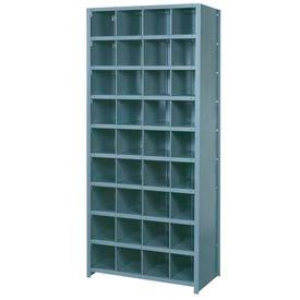 """Lyon Shelving Starter DD8102S - 36 Compartment 10 Traditional Shelves, 36""""Wx24""""Dx84""""H Gray"""