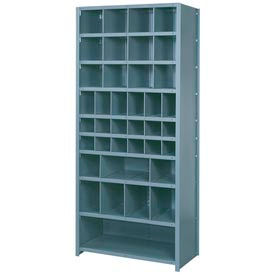 "Lyon Shelving Starter DD8122SH - 38 Compartment 10 Heavy-Duty Shelves, 36""Wx24""Dx84""H Gray"