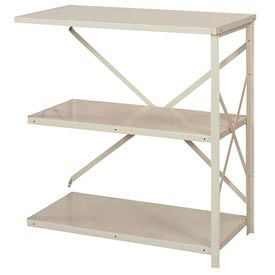 "Lyon Steel Shelving 36""W x 18""D x 39""H Open Counter Style 3 Shelves Gy Add-On"