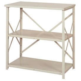 "Lyon Steel Shelving 36""W x 24""D x 39""H Open Counter Style 3 Shelves Gy Starter"