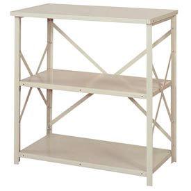 "Lyon Steel Shelving 36""W x 24""D x 39""H Open Counter Style 3 Shelves Gy Starter"