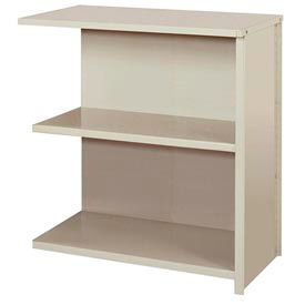 """Lyon Steel Shelving 36""""W x 18""""D x 39""""H Closed Counter Style 3 Shelves Gy Add-On"""