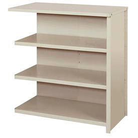 "Lyon Steel Shelving 36""W x 18""D x 39""H Closed Counter Style 4 Shelves Gy Add-On"