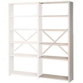 """Lyon Steel Shelving 22 Gauge 36""""W x 12""""D x 84""""H Open Back Style 6 Shelves Gy Add-On"""