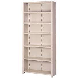 "Lyon Steel Shelving 20 Gauge 42""W x 18""D x 84""H Closed Style 7 Shelves Gy Add-On"