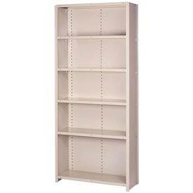 "Lyon Steel Shelving 20 Gauge 48""W x 18""D x 84""H Closed Style 6 Shelves Gy Starter"