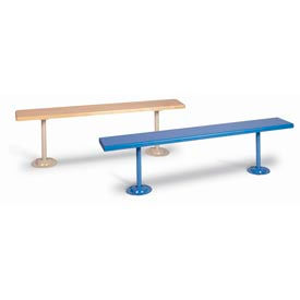 "Lyon Locker Bench Plastic Laminate Top w/Steel Putty Pedestals PP5815 - 72""W x 12""D x 18""H"