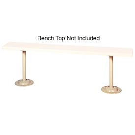 Lyon Locker Bench Steel Pedestals PP58182 - No Top, Putty, Price for Pack of 2