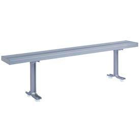 """Lyon Locker Bench Aluminum Top & Pedestals NF5826 - 108""""W x 9-1/2""""D x 17-1/8""""H"""