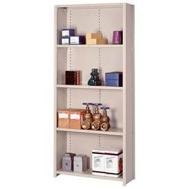 "Lyon Steel Shelving 18 Gauge 36""W x 18""D x 84""H Closed Style 5 Shelves Py Starter"
