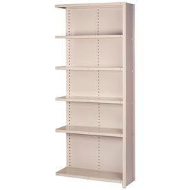 """Lyon Steel Shelving 20 Gauge 42""""W x 18""""D x 84""""H Closed Style 6 Shelves Py Add-On"""