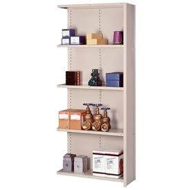"""Lyon Steel Shelving 20 Gauge 48""""W x 24""""D x 84""""H Closed Style 5 Shelves Py Add-On"""