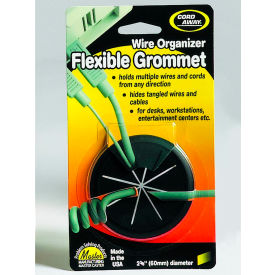 "Master CordAway 00209 Flexible Grommet, 2-3/8"" Diameter, Black, Pack of 1"