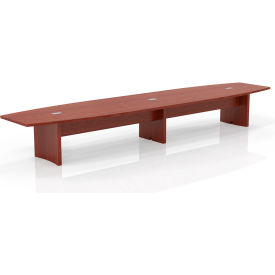 Safco® 18' Boat-Shaped Conference Table Cherry - Aberdeen Series