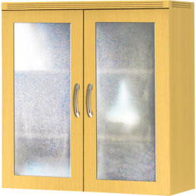 Safco® Aberdeen Series Glass Display Cabinet Maple