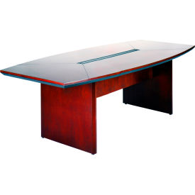 "Safco® Conference Table - Boat Shaped - 84"" - Sierra Cherry - Corsica Series"