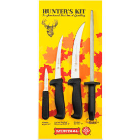 Mundial HS5600-4 Hunter's Set, With Camping Knife, Boning Knife, Steak Knife, Sharpening Stone by