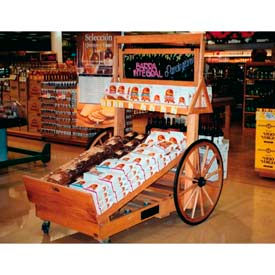 "Retract Cart W/ 32"" Wheels, 78""L x 36""W x 48""H, Hardwood, Select Cherry"