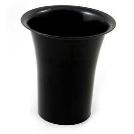 """Floral Cone, 7""""Diameter x 10""""H, Plastic, Black"""