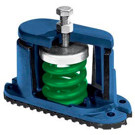 "Housed Spring Floor Mount Vibration Isolator - 5-3/4""L x 2-1/8""W Blue"