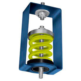 """Spring Vibration Isolation Hanger - 2-1/2""""L x 2-7/8""""W x 4-1/4""""H Silver"""