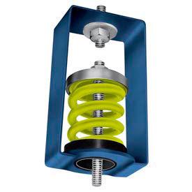 "Spring Vibration Isolation Hanger - 2-1/2""L x 2-7/8""W x 4-1/4""H White"