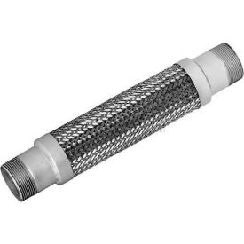 Stainless Steel Braided Hose With Threaded Nipples 1-1/2 x 12