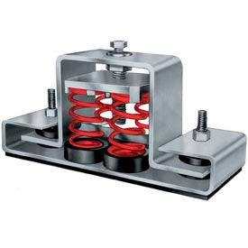 "Floor Mount Seismic & Wind Vibration Isolator - 8-3/4""L x 2-1/2""W Red"
