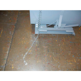 Chain Pull Latch for Extreme Height Dumping for Wright Self-Dumping Hoppers - Gray