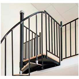 Spiral Staircase Kit   The Iron Shop, Bay, Steel Tube Balcony Rail, 5
